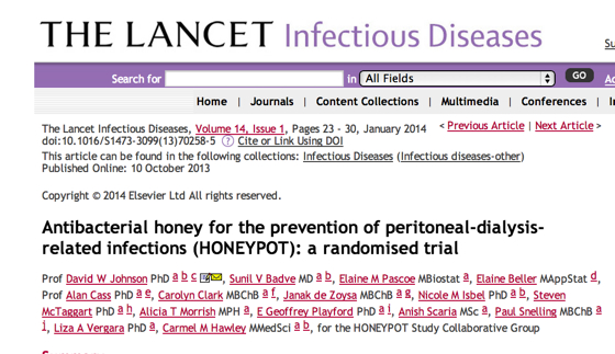 Antibacterial_honey_for_the_prevention_of_peritoneal-dialysis-related_infections__HONEYPOT___a_randomised_trial___The_Lancet_Infectious_Diseases