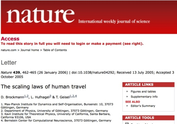 Access___The_scaling_laws_of_human_travel___Nature