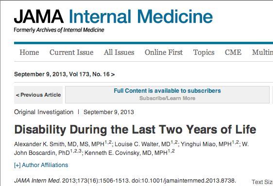 JAMA_Network___JAMA_Internal_Medicine___Disability_During_the_Last_Two_Years_of_Life_と_ほくろ占い_-_Google_検索