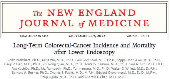 内視鏡検査をすると大腸がんの死亡率が68%減少