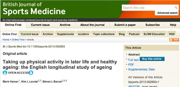 運動は高齢になってから開始した方が良い
