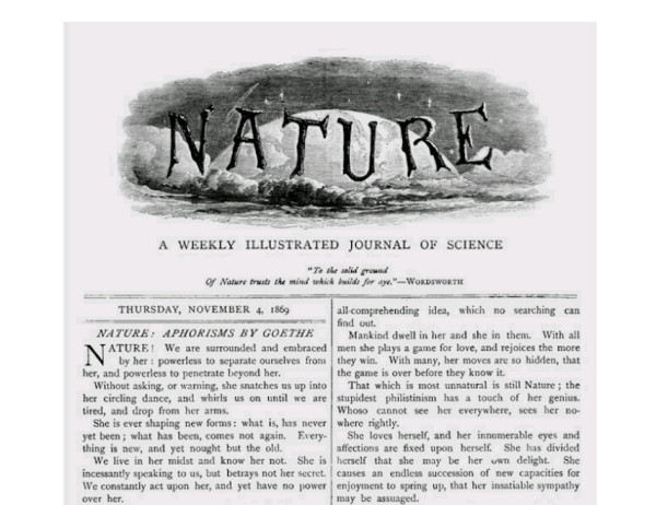 1869年11月に創刊されたNature