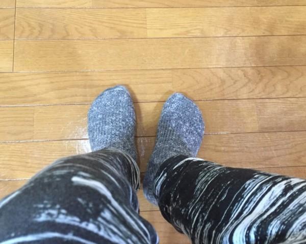 冷えとり靴下で足元がぽかぽか