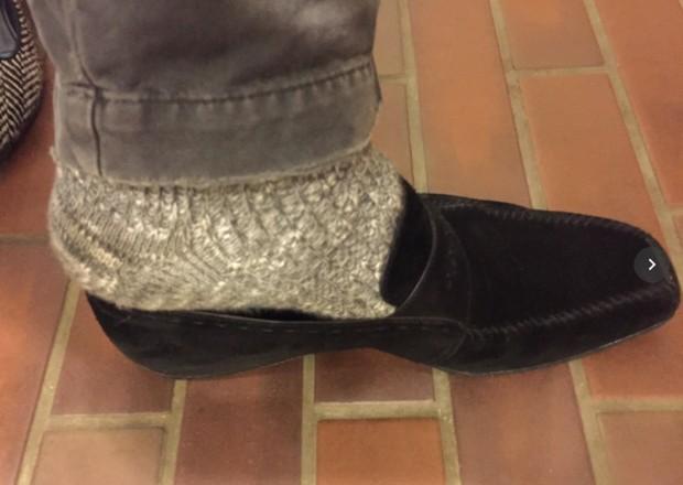 冷えとり用靴下を重ねばきすると靴が履けない