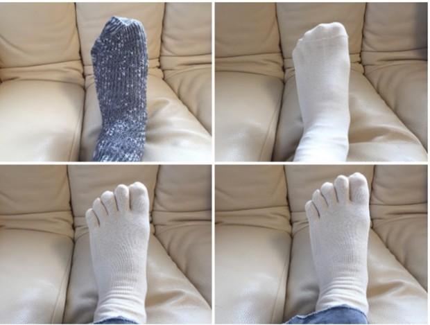 冷えとりに使う4枚の靴下