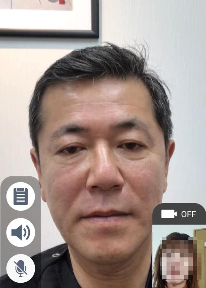 桑満おさむ医師のオンライン診療画面