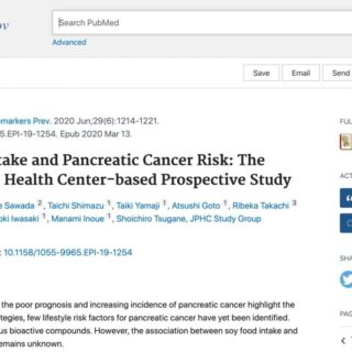 大豆食品は膵臓がんのリスクを高めるという研究結果が発表されました