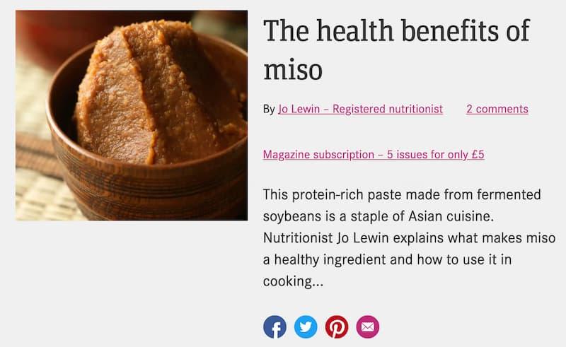味噌は健康に良い発酵食